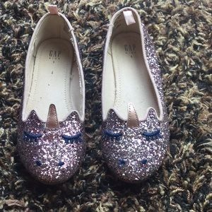 Unicorn slip on shoes with glitter